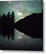 Mirror In The Mountains Metal Print