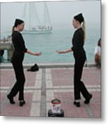 Mirror Mimes In Key West Metal Print
