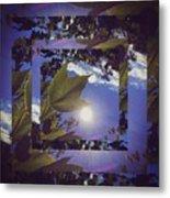 Mirrored Leaf Metal Print