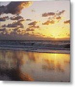 Mirrored Mexico Sunset Metal Print