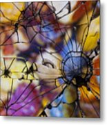 Mirrored Pebbles Metal Print