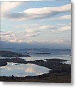Mirrored Sky In Connemara Ireland Metal Print