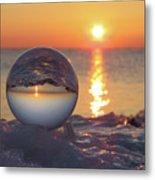 Mirrored Sunrise Metal Print