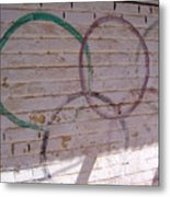 Miscolored Olympic Rings Metal Print