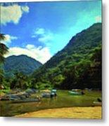 Mismaloya River Fishing Boats 0344 Metal Print