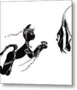 Miss Fifi And The Angel Fish Metal Print