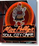 Miss Polly's Soul City Cafe Metal Print