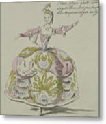Miss Puvigne As Air, In Zoroastre, A Libretto By Cahusac Metal Print