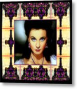 Miss Scarlet And Her Fans Metal Print