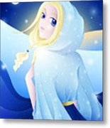 Miss Winter-night Metal Print
