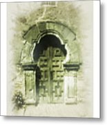 Mission Espada Chapel Door Metal Print