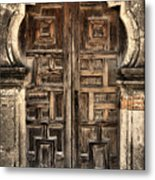 Mission Espada Door - 2 Metal Print