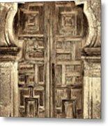 Mission Espada Door - 4 Metal Print