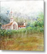 Mission In The Fog Metal Print