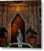 Mission Inn Chapel Fountain Metal Print