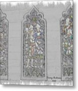 Mission Inn Chapel Stained Glass Metal Print