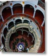 Mission Inn Circular Stairway Metal Print