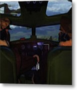 Mission Over Germany - Oil Metal Print