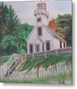 Mission Point Lighthouse Metal Print