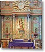Mission San Miguel Arcangel Altar, San Miguel, California Metal Print