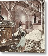 Mississippi Cotton Gin At Dahomey Metal Print