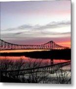 Mississippi River At Savanna Metal Print