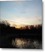 Mississippi River Colorful Dawn Clouds Metal Print