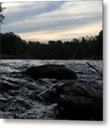 Mississippi River Dawn Sky Metal Print