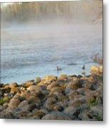 Mississippi River Duck Duck Dawn Metal Print