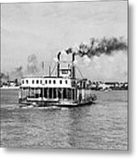 Mississippi River Ferry Boat Metal Print