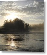 Mississippi River June Sunrise Reflection Metal Print