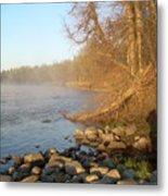 Mississippi River Shades Of Fog Metal Print