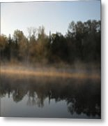 Mississippi River Smooth Reflection Metal Print