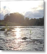 Mississippi River Victory At Sea Metal Print