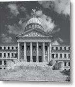 Mississippi State Capitol Bw Metal Print
