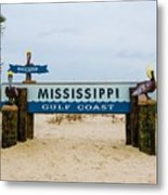 Mississippi Welcome Metal Print
