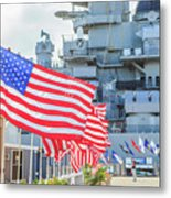 Missouri Battleship Memorial Flags Metal Print