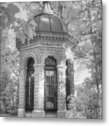 Missouri Botanical Garden Henry Shaw Crypt Infrared Black And White Metal Print