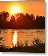 Missouri River In St. Joseph Metal Print