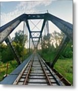 Missouri Side Of Track's Metal Print