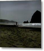 Mist At Cannon Beach Metal Print