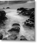 Mist On The Water In Monochrome Metal Print