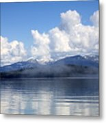 Mist Over Priest Lake Metal Print