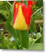 Mister Tulip Waving Salute Metal Print
