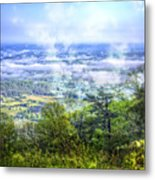 Mists In The Valley Metal Print