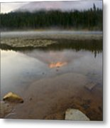 Misty Alpenglow Metal Print