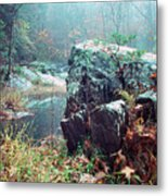 Misty Chopawamsic Creek Autumn Day Metal Print