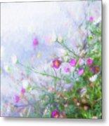 Misty Floral Spray Metal Print