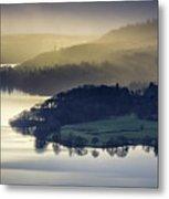 Misty Lake Windermere Metal Print