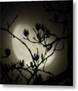 Misty Moon Metal Print
